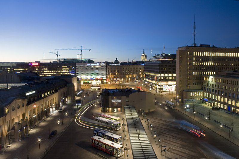 Holiday Inn Helsinki City Centre-View from the guest room facing to Elielinaukio square<br/>Image from Leonardo