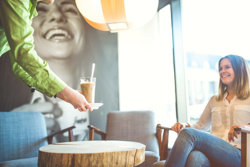 Holiday Inn Helsinki City Centre-Sit by a window with a Cafe Latte and watch the lively square<br/>Image from Leonardo