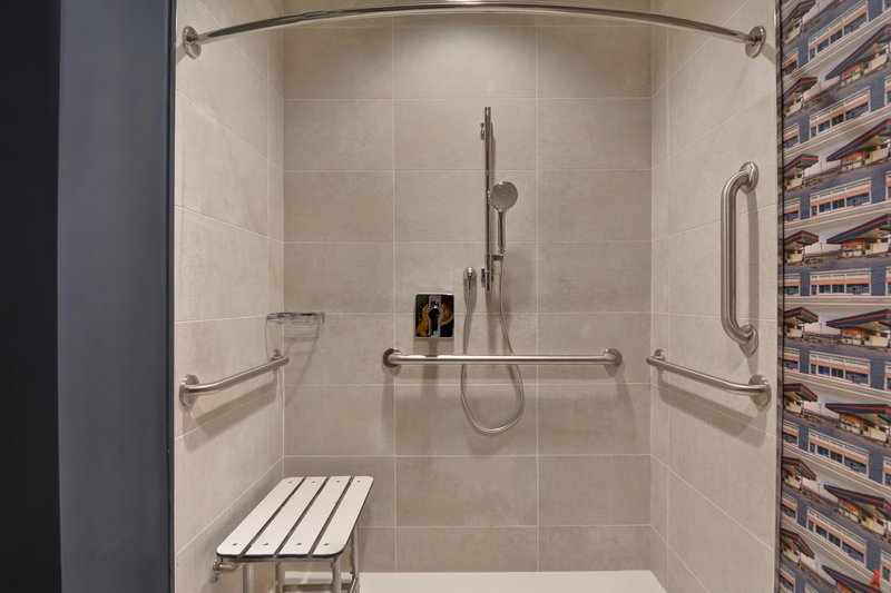 Aloft Secaucus Meadowlands-Accessible Bathroom - Roll-In Shower<br/>Image from Leonardo