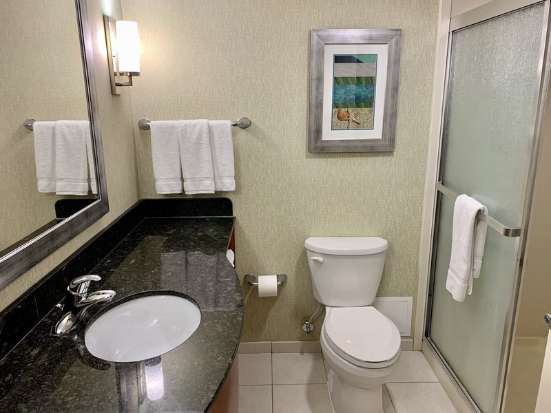 Holiday Inn Hotel & Suites Virginia Beach - North Beach-Two Queen Bed Poolview Oceanview Bathroom<br/>Image from Leonardo