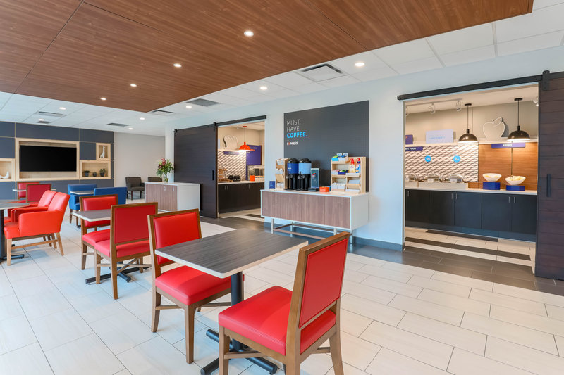 Holiday Inn Express and Suites Fort Worth Downtown-Breakfast Buffet Area<br/>Image from Leonardo