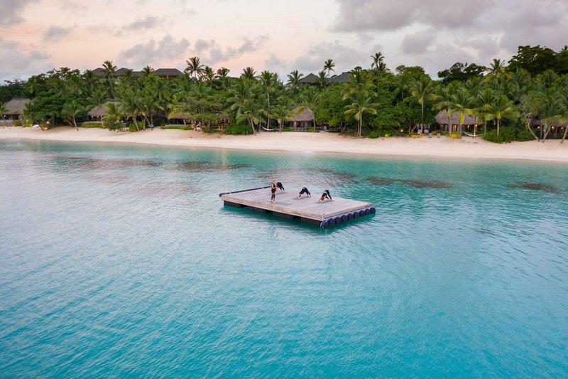 Kokomo Private Island Fiji-Pontoon Yoga<br/>Image from Leonardo