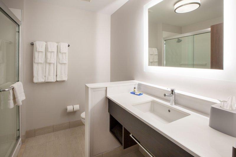 Holiday Inn Express & Suites Rockford-Loves Park-Guest Bathroom<br/>Image from Leonardo