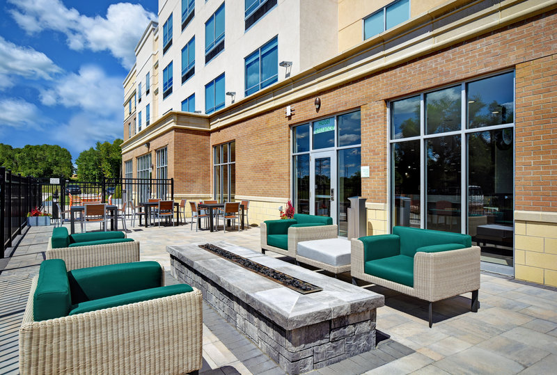 Holiday Inn Grand Rapids North-Unwind by the fireplace or dine outdoors on our Outdoor Patio<br/>Image from Leonardo