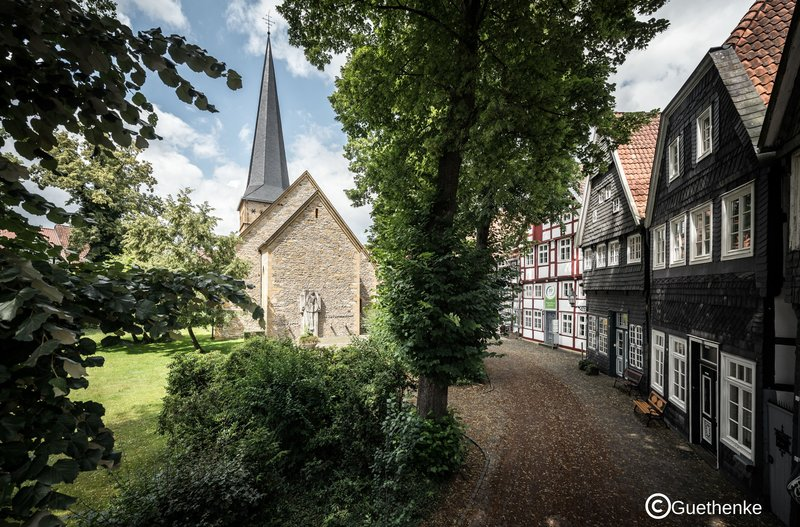 Holiday Inn Express Guetersloh-Historical Church and unique Timbered Houses in Gütersloh<br/>Image from Leonardo