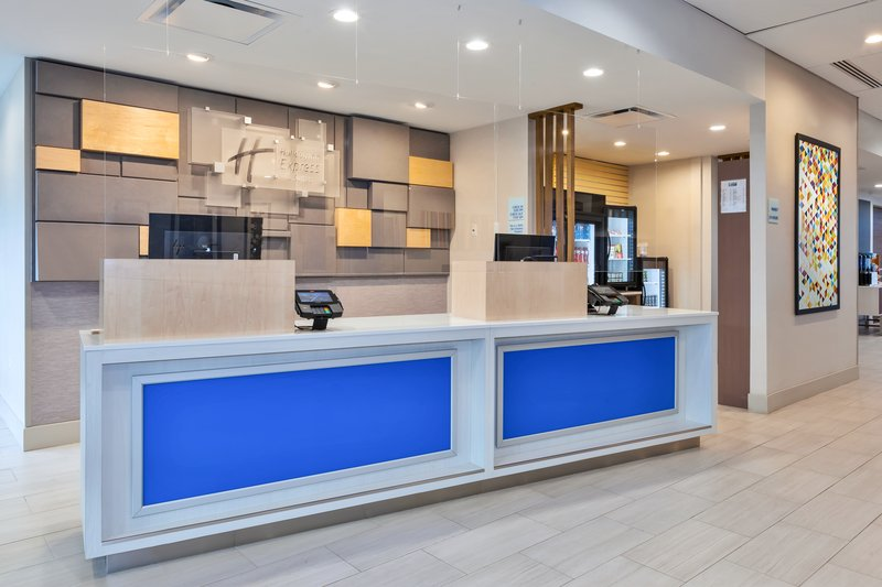 Holiday Inn Express & Suites Grand Rapids Airport - South-Front Desk<br/>Image from Leonardo