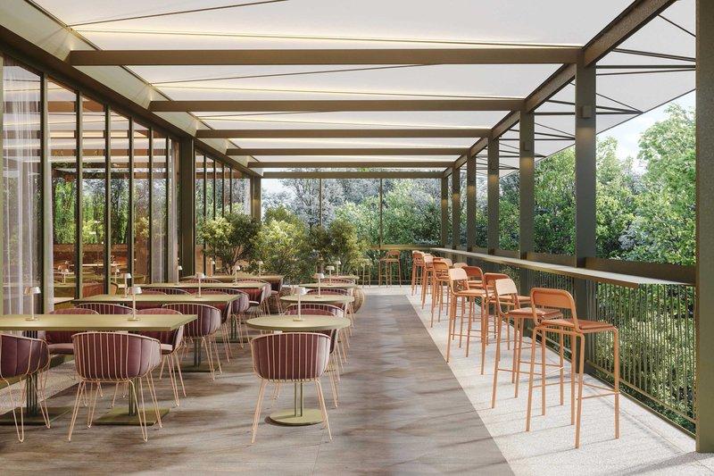 Four Points by Sheraton Ljubljana Mons-Robin restaurant terrace<br/>Image from Leonardo