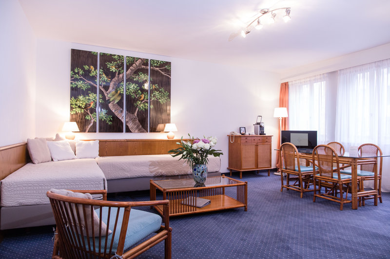 Hotel Sagitta Swiss Q-Apartment With Bedroom And Living Room<br/>Image from Leonardo