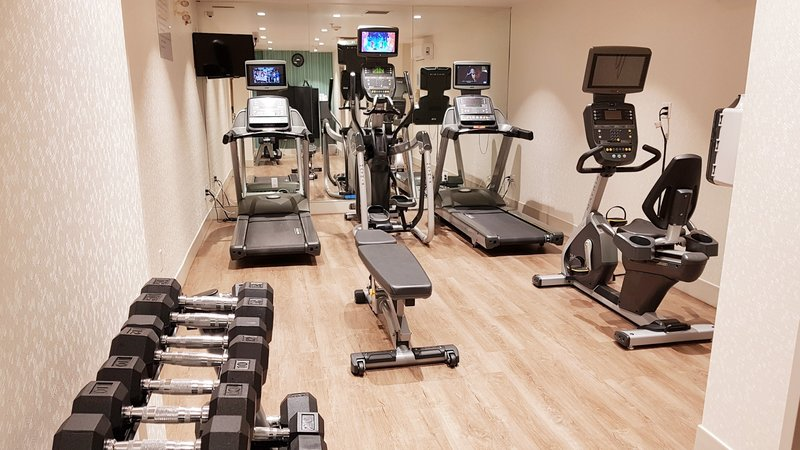 Holiday Inn Express & Suites Surrey-Open 24 hours - guests can book a time for a private workout. <br/>Image from Leonardo