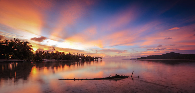 Vahine Island-Sunset<br/>Image from Leonardo