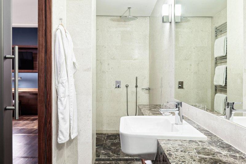 Metropol Palace Belgrade; a Luxury Collection Hotel-Suite Bathroom – Walk-In Shower<br/>Image from Leonardo