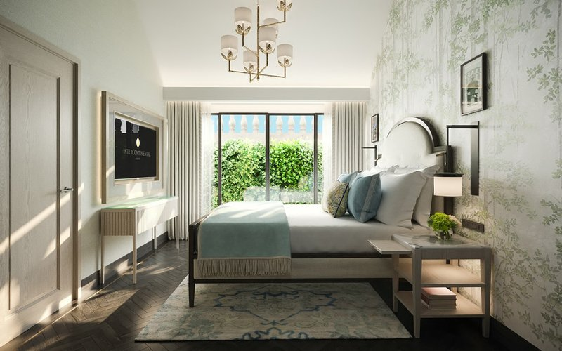 Intercontinental Porto - Palacio das Cardosas-High ceiling bedroom with a vertical garden terrace <br/>Image from Leonardo