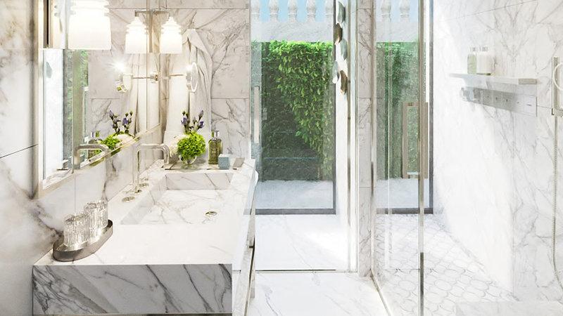 Intercontinental Porto - Palacio das Cardosas-Suite bathroom with natural light <br/>Image from Leonardo