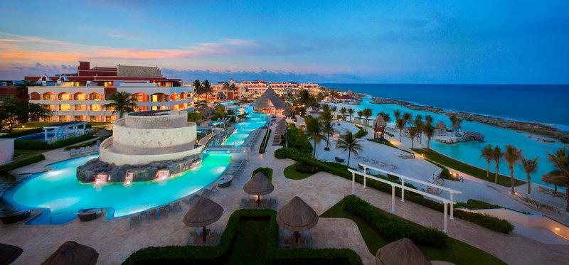 Hard Rock Riviera Maya - Family - HRH Riviera Maya Hacienda Pool Family Beach Aerial <br/>Image from Leonardo