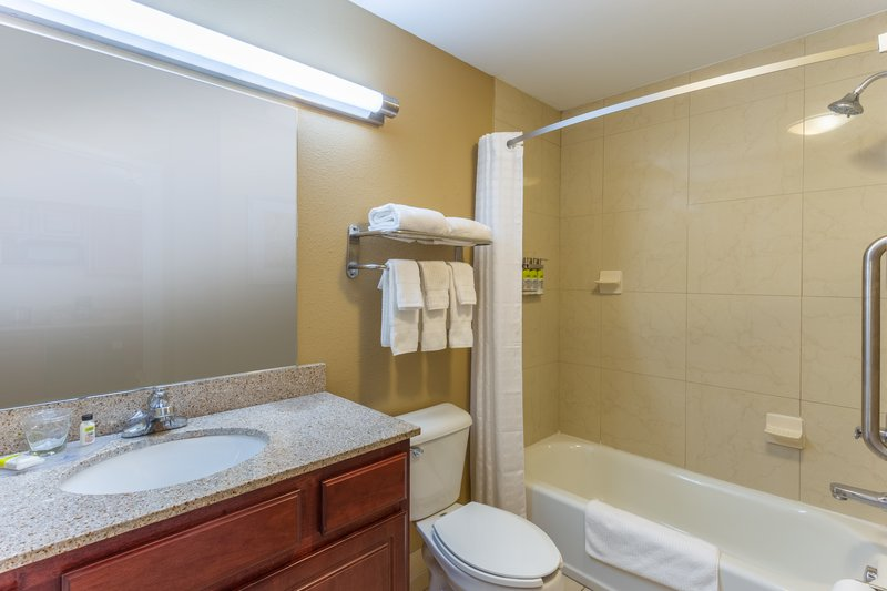 Candlewood Suites South Bend Airport-King Suite Bathroom<br/>Image from Leonardo