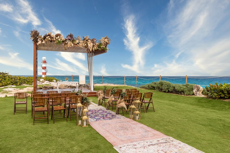 Hyatt Ziva Cancun  - Hyatt Ziva Cancun Wedding Lighthouse Gazebo <br/>Image from Leonardo