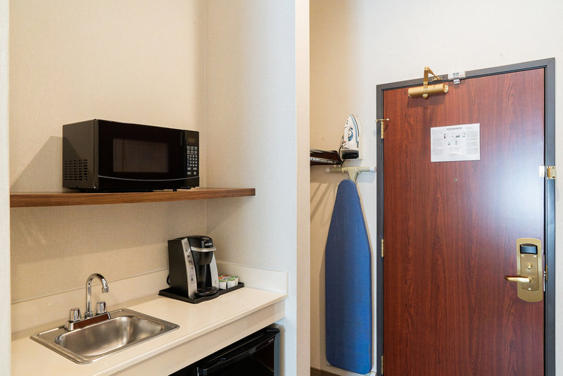 Holiday Inn Express & Suites Davis-University Area-Keurig, Microwave, Mini fridge, Iron and Iron Board in all rooms. <br/>Image from Leonardo