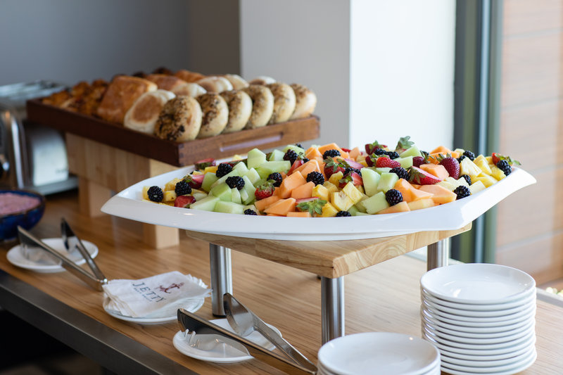 Hotel Indigo Seattle Everett Waterfront-Catering Fruit and Pasteries <br/>Image from Leonardo