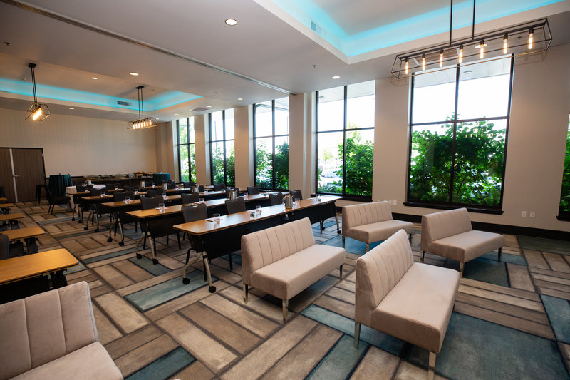 Hotel Indigo Seattle Everett Waterfront-Harbor Ballroom with Soft and Classrooms Style Seating<br/>Image from Leonardo