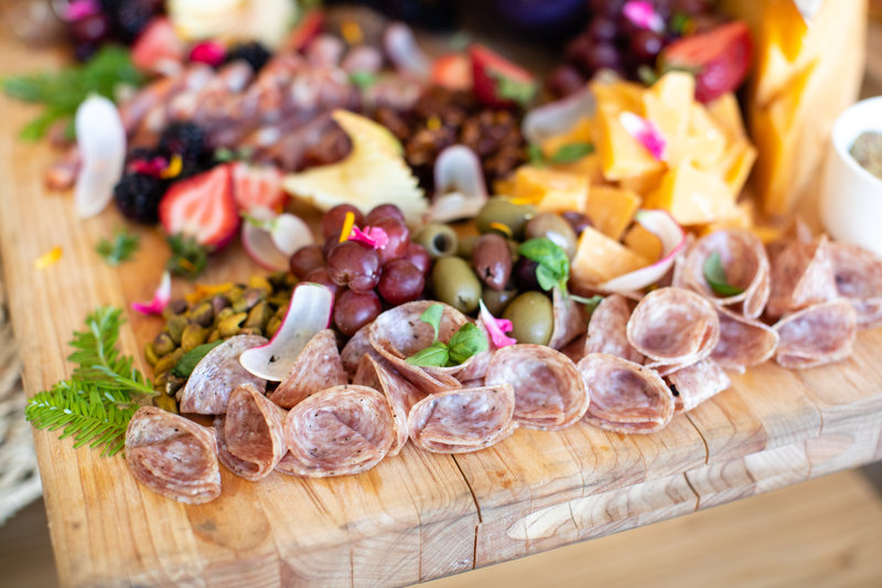 Hotel Indigo Seattle Everett Waterfront-Catering Meat and Chees Spread<br/>Image from Leonardo