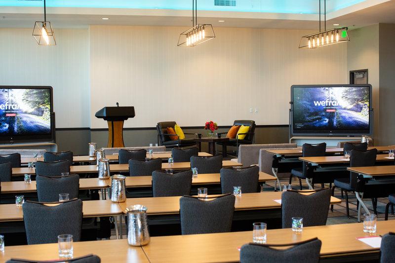 Hotel Indigo Seattle Everett Waterfront-Harbor Ballroom General Session Classroom Seating<br/>Image from Leonardo