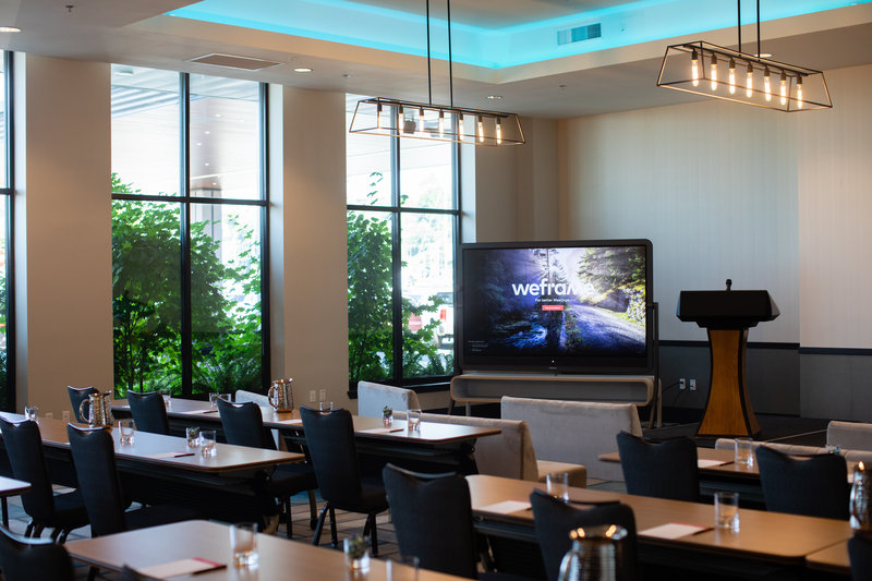 Hotel Indigo Seattle Everett Waterfront-Harbor Ballroom Classroom with Weframe board<br/>Image from Leonardo