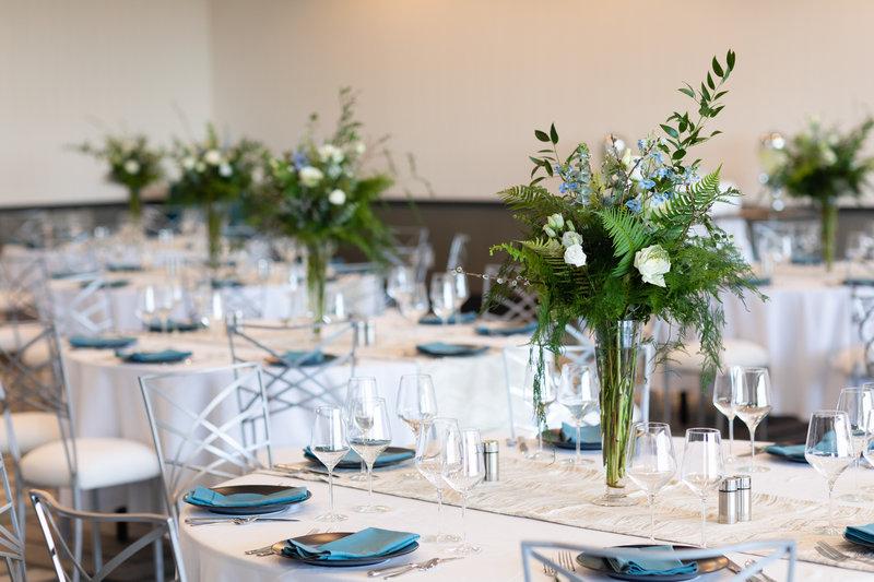 Hotel Indigo Seattle Everett Waterfront-Bayside Wedding Table Décor.<br/>Image from Leonardo