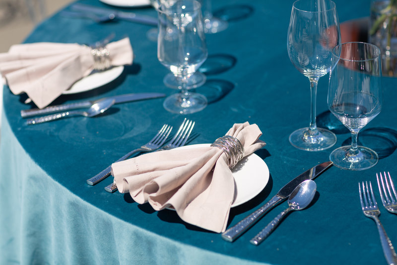 Hotel Indigo Seattle Everett Waterfront-Some of our table settings for you to use on your special day.<br/>Image from Leonardo