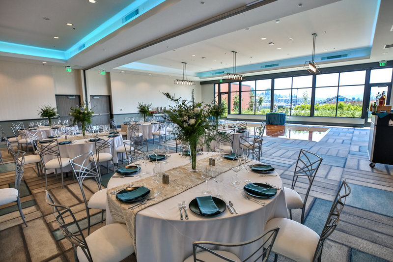 Hotel Indigo Seattle Everett Waterfront-Elegant reception with a beautiful view. <br/>Image from Leonardo