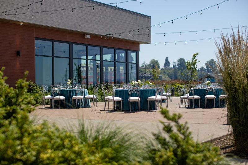 Hotel Indigo Seattle Everett Waterfront-Wedding Reception Foliage <br/>Image from Leonardo