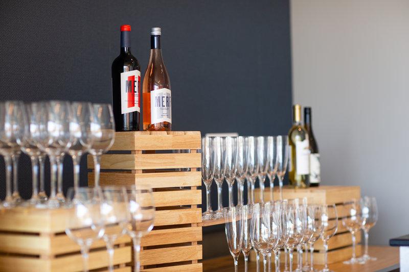Hotel Indigo Seattle Everett Waterfront-Wine and Glasses Galore. <br/>Image from Leonardo